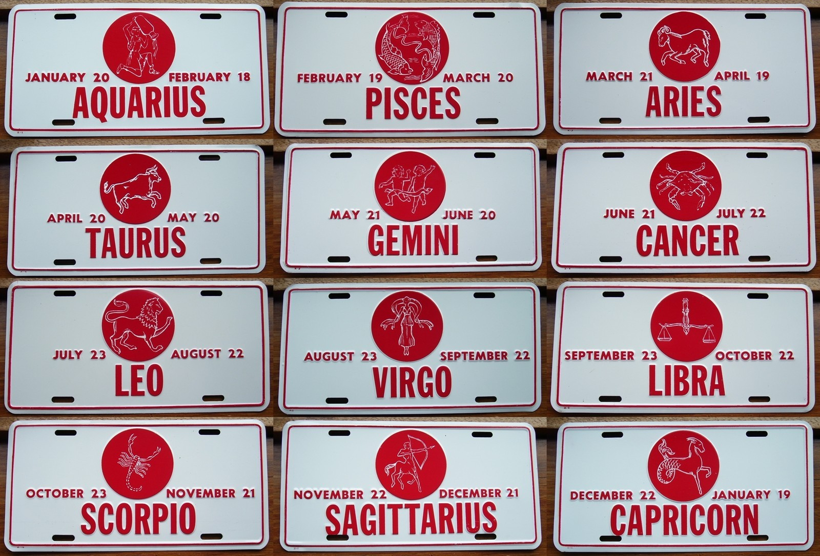 12 Set Of 12 Zodiac Star Sign Plates Platemine