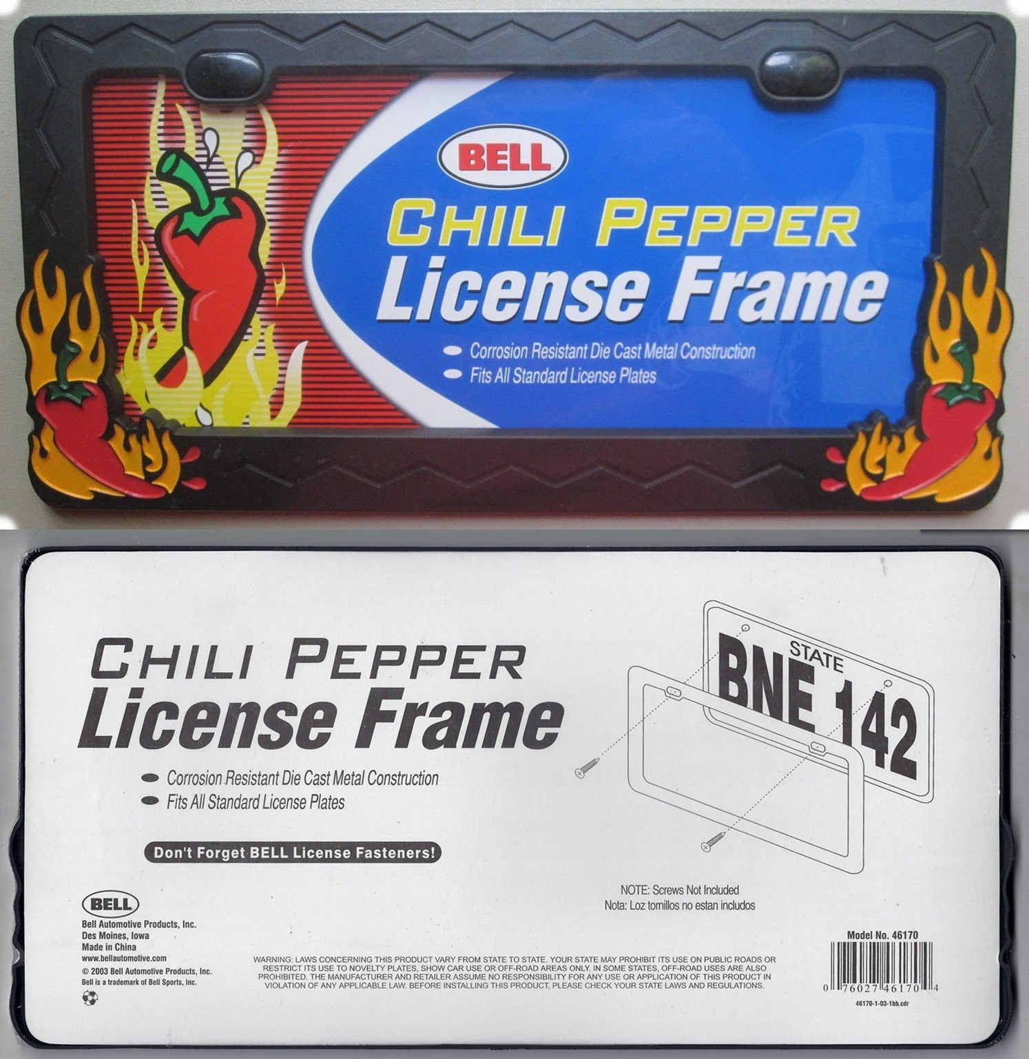 Chili Pepper License Plate Frame Platemine
